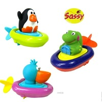 Sassy animal boat baby bath toys rope wound-up infant swimming toys 0.1