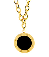 Free shipping 18k gold-plated screw round card retro chain  chain