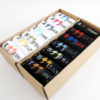 Seven socks for each day Men's Athletic socks Cotton / breathable / sweat Black & Whtie [230147]