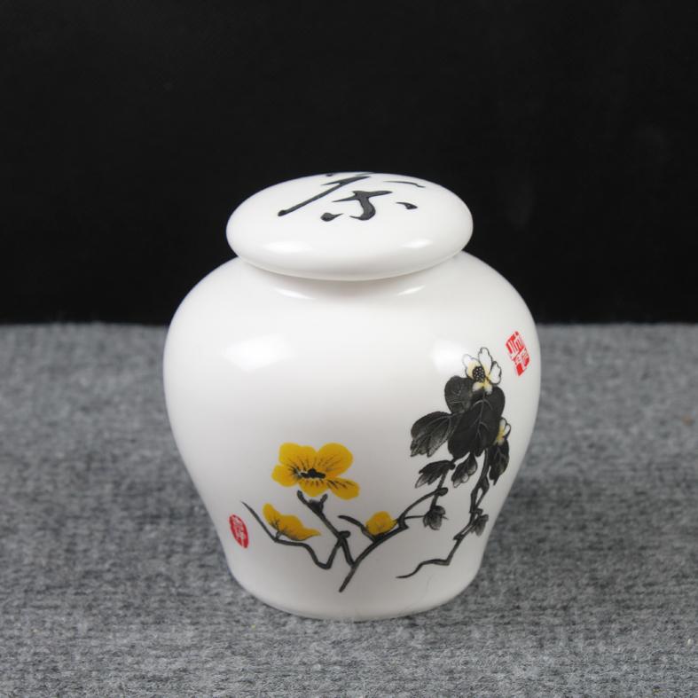 Chá caddy cerâmica tanque de armazenamento de logo mat único vasilha chá caddy b(China (Mainland))