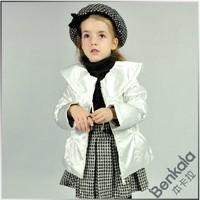 Benkala female child large lapel cotton-padded jacket wadded cotton-padded jacket bhds160