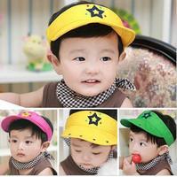 Five star applique embroidered child sunbonnet visor sun hat spring and summer 0.1