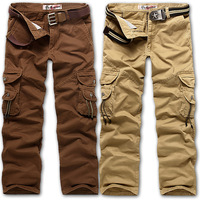 2014 Best Quality Casual Male Plus Size Loose  Outdoor  Trousers Multi-Pocket Men Pants