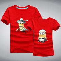 2014 New Minions printed 100% cotton brand t Shirt  men women fashion short sleeve o neck casual t-shirts for lovers XXXL  JT001