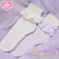 Princess sweet lolita socks short soks Aesthetic bobon21 full lace cutout laciness sock female ac1007