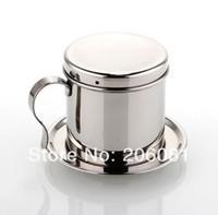 Stainless steel Vietnam coffee dripper maker Free shipping Vietnam drip coffee maker manual Vietnamese drip filter c