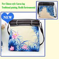 National 2014 popular trend flowers vintage pattern canvas bag messenger bag Free shipping