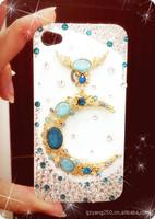 Luxury  swarovski diamond phone case for I phone 5 protection phone case free ship