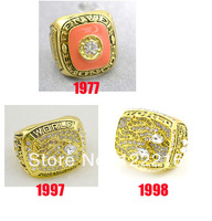 Football Replica NFL 1977 1997 1998 Denver Broncos Super Bowl World Championship Ring
