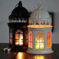 Wholesale Free shipping colored glass lantern candle holder 2 colors optional hurricane lamp farol holiday supplies zakka