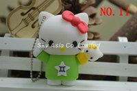 12pcs/lot 2014 NEW Hello Kitty cartoon Usb Flash pen Drive disk Memory Sticks 4GB 8GB 16GB 32GB U Disk gift gifts Free Shipping