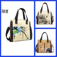 National 2014 trend rustic flower vintage pattern canvas women bag messenger bag Free shipping