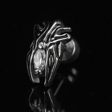 White new beetle stud earring titanium accessories boys earrings male ear buckle fashion(China (Mainland))