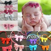 50 pcs/lot sequin Bow headbands hair bows headbands sequin bows with skinny headbands 14 colors instock