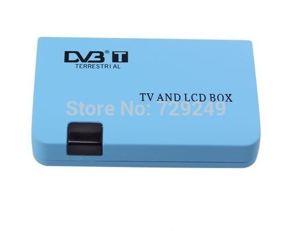 Free shipping Brand New Digital TV Box LCD VGA/AV Output Tuner DVB-T View Receiver(China (Mainland))