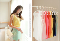 2014 new all-match Chiffon top sleeveless render soft  Candy Color tank tops Tanks Camis modern stylish free shipping