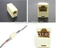 20PCS/Lot RJ45 RJ-45 CAT5 Network Ethernet Modular connector plug joiner Extender coupler LAN female to female Cable Adapter