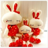 Free shipping 30cm Plush toy doll beauty rabbit tang suit rabbit wedding doll gift