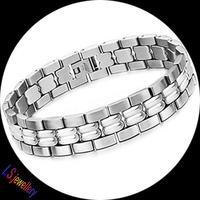 2014 Fashion 2013 New Hot Sale New personality chain health care magnetic Men's 316 titanium steel Bracelets
