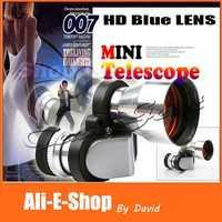 10pcs/lot Mini corner 8X20mm Zoom Monocular Telescope, Metal night vision Optical telescope HD Fully Blue coated Free Shipping