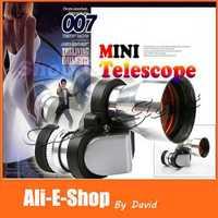 10pcs/lot Mini corner 8X20mm Zoom Monocular Telescope, Metal night vision Optical telescope Fully RED coated Free Shipping