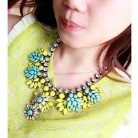Color female short paragraph clavicle necklace European and American short necklace drop