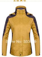 Syrinx Outdoor Jackets Women warm windproof and waterproof three-piece climbing  Fashion