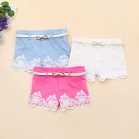 - j984 2014 spring women's crochet boot cut jeans low-waist pants casual shorts c-27