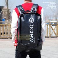 Large capacity 2014 hip-hop backpack lather-bag hiphop backpack bag subcrew travel bag  mochila couro feminina