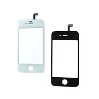 Free shipping New  Glass Digitizer Touch Panel Front Screen Replacement Parts with Repair Tools For iPhone 4S Black / White