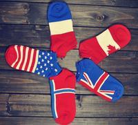 2014 new cotton socks EU fashion personality flag boat men to help low . Free shipping