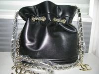 2014 New Pure color National Trend Bohemia Style Print Chain Drawstring Bucket Bag Women Messenger Lattice Chain Bag 2 colour