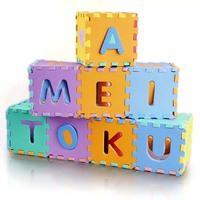 36 Pcs Environmentally Puzzle Mat EVA Foam Numbers+Alphabet Play Mat Puzzle Floor Mats Baby Carpet Pad Kids Rug Toy EVA 15*15cm