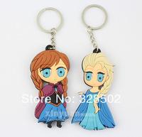 wholesale 30pcs cartoon frozen Queen snowman key chain ring cute couple keychain Free shipping