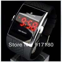 Drop Shipping Best Gift Men's Luxury Date Digital Sport Led Watch With Red Light