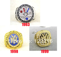 MLB Free shipping Replica 1963 1998 1999 New York Baseball World Championship Ring