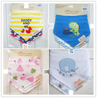 Free shipping 3pc/lot 100% cotton baby boys and girls bibs baby towel bandanas chiscarf ldren cravat infant towel