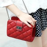 free shipping Women's handbag fashion small  fashion plaid bag mini messenger bag chain of packet