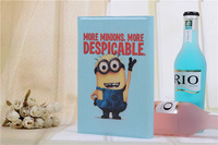 Free Shipping Despicable ME Cartoon Case For Universal 7 inch Tablet & Stand Cover For Samsung/Pipo 7inch