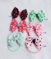 small rubber band hairtie pony tail  baby headband  bow hair rope 30902 YOKI freeshipping