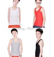 Les Lesbian Tomboy Casual Breathable Mesh Long Chest Breast Binder Trans Undershirt Vest Tops Plus Size S-5XL #SM-0007