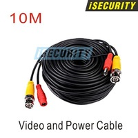 Free shipping! 2pcs a lot! BNC cable 10M Power video Plug and Play Cable for CCTV camera system Security free shipping