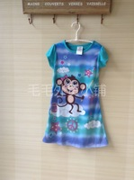 Child sleepwear female child baby spaghetti strap baby nightgown princess girl lounge