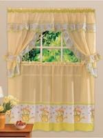 Free shipping printing kitchen curtain, curtain, Coffee tulip pattern (5 Piece Set00)