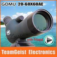 Original HD Green Film FMC GOMU 20-60X60AE monocular Spotting scope telescope Night Vision DSLR camera + Tripod Free Shipping