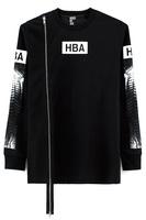 Hb spine single zipper ho d by a r lovers design long-sleeve pullover sweatshirt