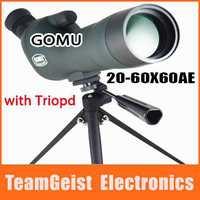 Original GOMU 20-60X60AE monocular Spotting scope telescope HD Green Film Night Vision for ALL DSLR camera photography + Tripod