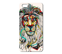 Hot Sale New Arrive Promotion colorful lion Hand-Pattern hard case for Iphone 4 4S 5 5s 1pcs W016