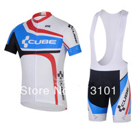 new product!!fast shipping 2014 cube short sleeve set cycling jersey Bicycle jersey (jersey+BIB pants)ALL IN STOCK