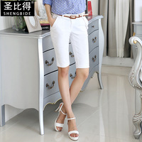 2014 women's straight pants trousers slim all-match shorts female shorts